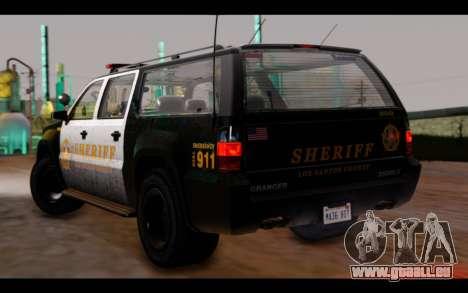 GTA 5 Declasse Sheriff Granger IVF für GTA San Andreas linke Ansicht