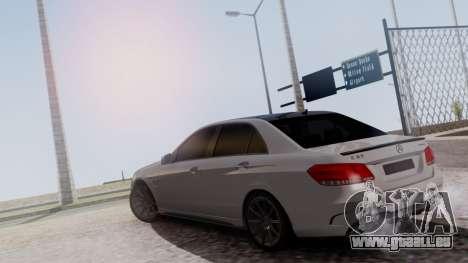 Mercedes-Benz E63 AMG PML Edition pour GTA San Andreas vue arrière