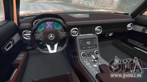 GTA 5 Mercedes-Benz SLS AMG GT3 arrière droit vue de côté