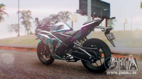 Yamaha R25 2015 EV Mirai Miku Racing 2013 pour GTA San Andreas laissé vue