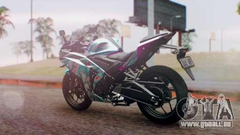 Yamaha R25 2015 EV Mirai Miku Racing 2013 für GTA San Andreas linke Ansicht