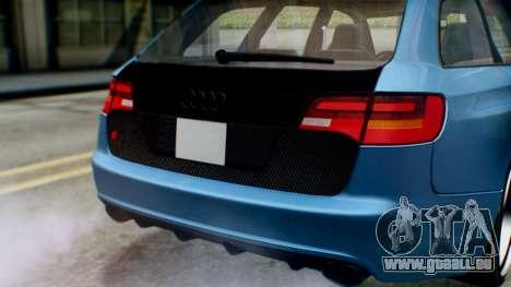 Audi RS6 Avant 2009 pour GTA San Andreas vue intérieure