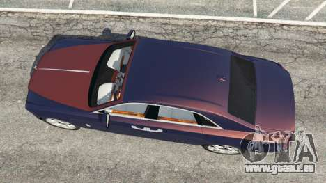 GTA 5 Rolls Royce Ghost 2014 v1.2 vue arrière
