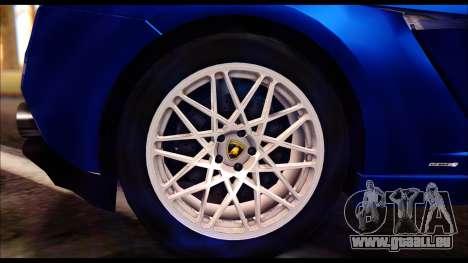 Lamborghini Gallardo LP560 pour GTA San Andreas sur la vue arrière gauche