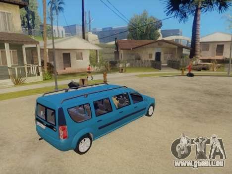 Lada Largus 7-door pour GTA San Andreas laissé vue