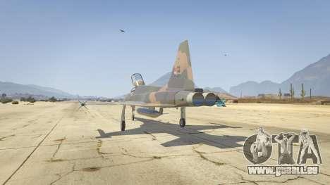GTA 5 Northrop F-5E Tiger II FAB troisième capture d'écran