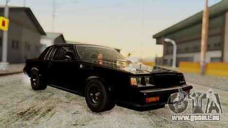 Buick GNX 1987 F&F4 für GTA San Andreas