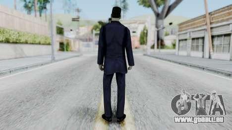 GMAN v2 from Half Life pour GTA San Andreas troisième écran