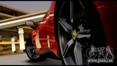 Ferrari 488 GTB 2016 pour GTA San Andreas vue arrière