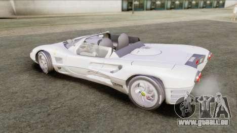 Ferrari P7 Yrid für GTA San Andreas zurück linke Ansicht