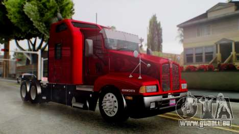 Kenworth T600 Aerocab 72 Sleeper für GTA San Andreas linke Ansicht