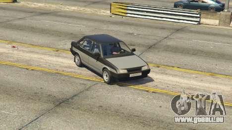 GTA 5 VAZ 21099 v3 arrière droit vue de côté