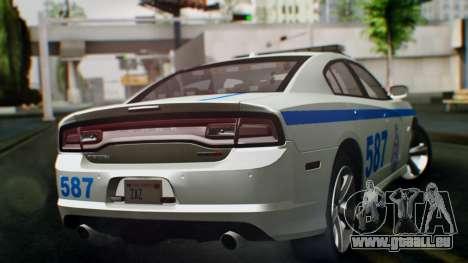 Dodge Charger SRT8 2015 Police Malaysia pour GTA San Andreas laissé vue
