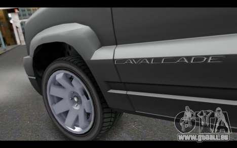 GTA 5 Albany Cavalcade IVF pour GTA San Andreas sur la vue arrière gauche