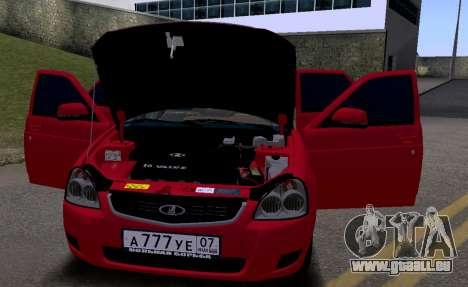 VAZ 2172 KBR pour GTA San Andreas vue arrière