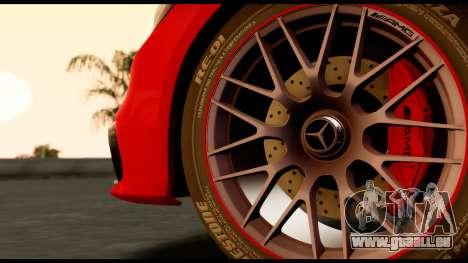 Mercedes-Benz CLS63 AMG 2015 pour GTA San Andreas sur la vue arrière gauche