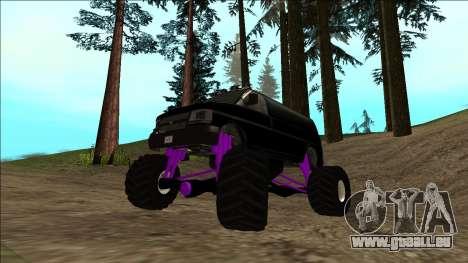 GTA 5 Vapid Speedo Monster Truck für GTA San Andreas Unteransicht