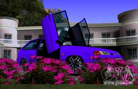 VAZ 2113 KBR pour GTA San Andreas vue intérieure