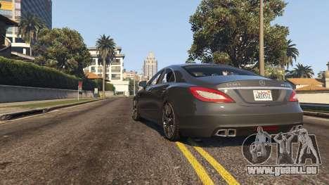 GTA 5 Mercedes-Benz CLS 63 AMG v.1.2 vue arrière
