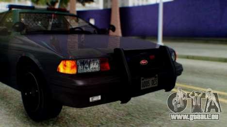 GTA 5 Vapid Stanier II Police IVF pour GTA San Andreas vue arrière