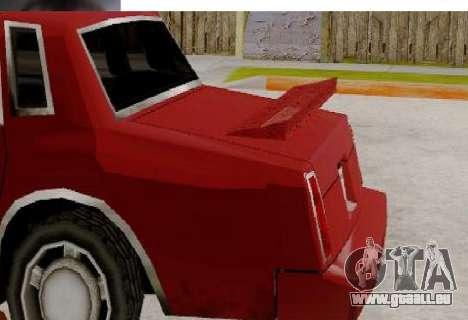 TahomaNew v1.0 pour GTA San Andreas sur la vue arrière gauche