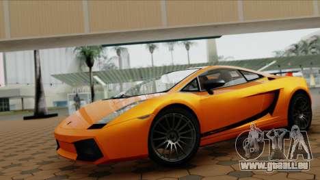 Lamborghini Gallardo Superleggera für GTA San Andreas rechten Ansicht