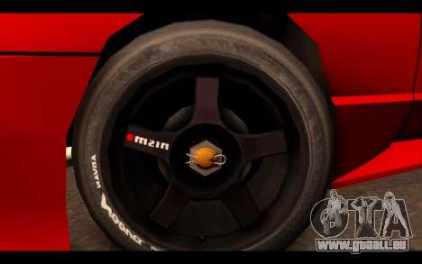ElegyX pour GTA San Andreas sur la vue arrière gauche