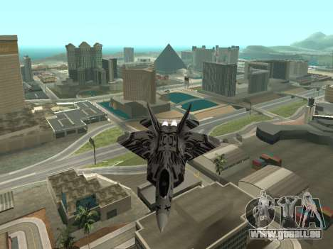 F-22 Raptor für GTA San Andreas zurück linke Ansicht
