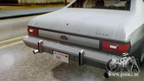 Ford Gran Torino 1974 IVF für GTA San Andreas obere Ansicht