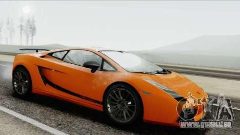 Lamborghini Gallardo Superleggera für GTA San Andreas zurück linke Ansicht
