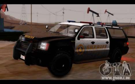 GTA 5 Declasse Sheriff Granger IVF pour GTA San Andreas