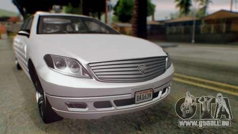 GTA 5 Benefactor Stretch E Turreted IVF pour GTA San Andreas vue de droite