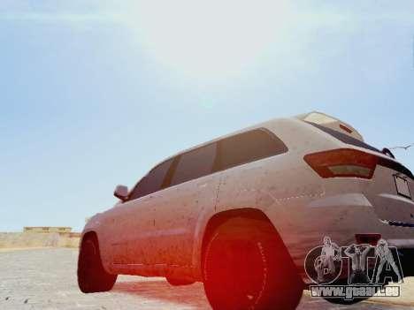 Jeep Grand Cherokee SRT8 2013 Tuning pour GTA San Andreas laissé vue