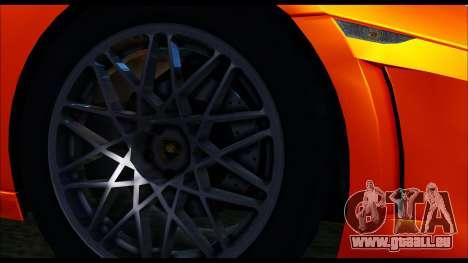 Lamborghini Gallardo LP560 PJ pour GTA San Andreas sur la vue arrière gauche