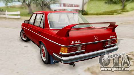 Mercedes-Benz 230E AMG 3.2 1982 Evolution Mod für GTA San Andreas linke Ansicht
