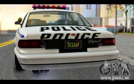 GTA 5 Curie IV White pour GTA San Andreas vue arrière
