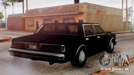Unmarked Police Cutscene Car Normal pour GTA San Andreas vue de droite