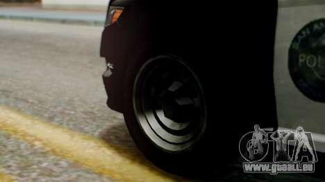 GTA 5 Police LS pour GTA San Andreas sur la vue arrière gauche