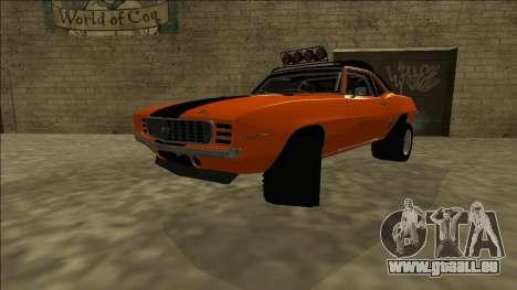 Chevrolet Camaro SS Rusty Rebel für GTA San Andreas zurück linke Ansicht