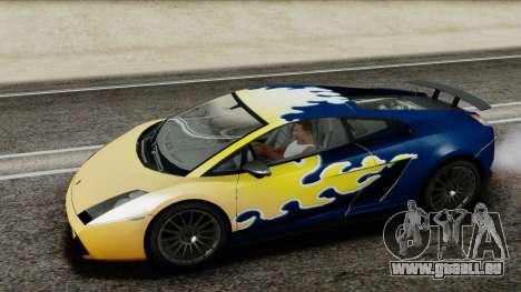 Lamborghini Gallardo Superleggera für GTA San Andreas obere Ansicht