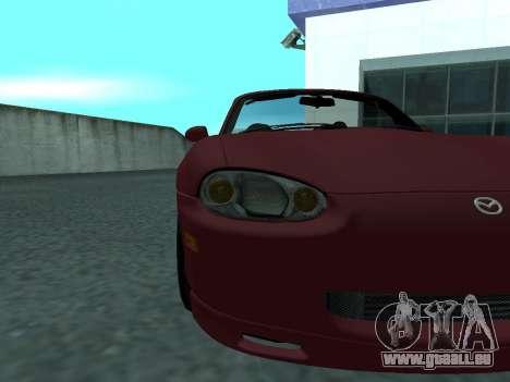 Mazda MX-5 für GTA San Andreas Rückansicht