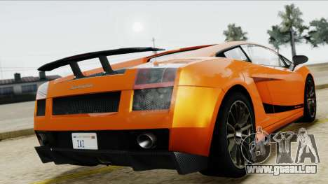 Lamborghini Gallardo Superleggera für GTA San Andreas Rückansicht