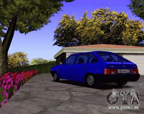 2109 KBR pour GTA San Andreas sur la vue arrière gauche