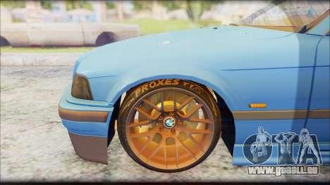 BMW M3 E36 Stanced-Hella pour GTA San Andreas vue de droite