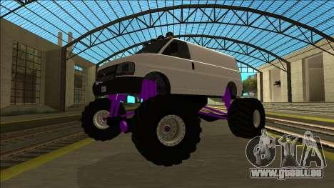 GTA 5 Vapid Speedo Monster Truck für GTA San Andreas Rückansicht