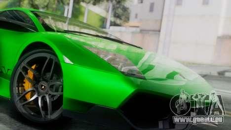 Lamborghini Murcielago LP670-4 SV 2010 pour GTA San Andreas sur la vue arrière gauche