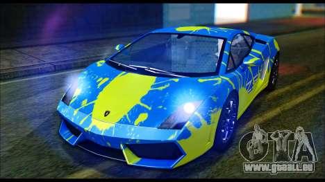 Lamborghini Gallardo LP560 PJ pour GTA San Andreas vue de droite