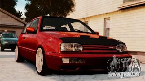 Volkswagen Golf VR6 1998 DTD Tuned pour GTA 4