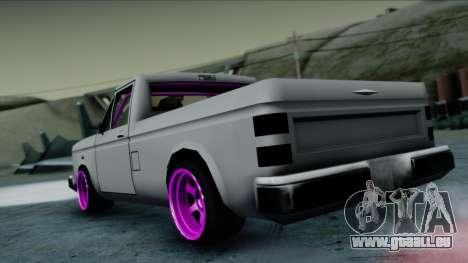 Bobcat Drift pour GTA San Andreas laissé vue