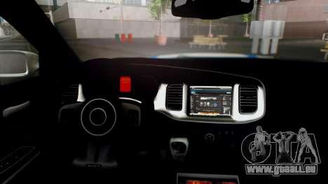 Dodge Charger SRT8 2015 Police Malaysia pour GTA San Andreas vue de droite